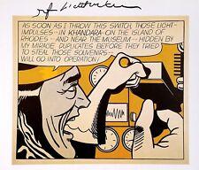 ROY LICHTENSTEIN HAND SIGNED SIGNATURE * MAD SCIENTIST * PRINT W/ C.O.A.