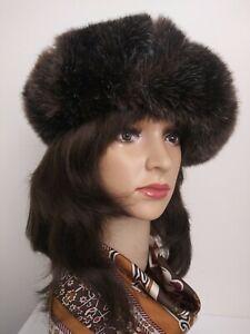 Vintage 1970 Everitt Brown Color Faux Fur Barrett EUC