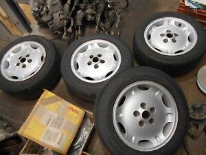 """Jaguar XJ X300 X308 16"""" Alloy Wheels. 'Dimple' Alloys. 2 Good Tyres"""