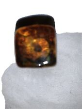 """24 Cal Crystal Amber Glass Cabinet Knobs, 3/4"""" New"""