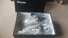 LADIES WOMEN'S FEMALE SIZE 3 LACED TRAINERS GREY BY DUNE IN SUEDE IN BOX SHOES.