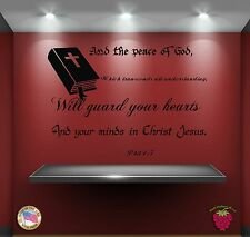 Wall Stickers Religion Bible Quote Verse Phil 4:7: And the peace of God zz025
