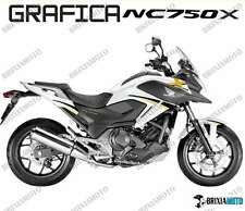 ADESIVI DECAL STICKERS HONDA NC750X NC 750 X RACING CARENA GRAFICA NERO ORO