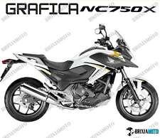 ADESIVI DECAL STICKERS HONDA NC750X NC 750 X RACING CARENA GRAFICA NERO ORO