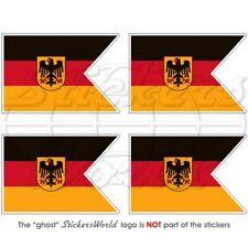 DEUTSCHLAND Deutsche MARINE Fähnrich Flagge Fahne 50mm Aufkleber x4 Stickers