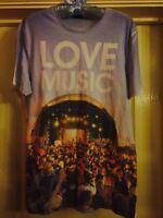 """Mens White """"Love Music"""" Tshirt - Size M - Topman"""