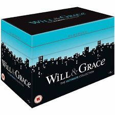 "WILL & GRACE ULTIMATE COMPLETE SERIES COLLECTION BOX SET 33 DISCS ""NEW&SEALED"""