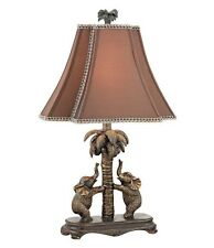 Elephant Dancing Duo Table Lamp Accent Light Safari Jungle Animals