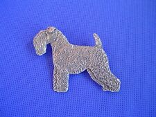 Kerry Blue Terrier pin Standing #93A Pewter Dog Jewelry by Cindy A. Conter