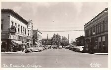 RPPC La Grande, OR by Christian Cafe, drugstore street scene 7A2