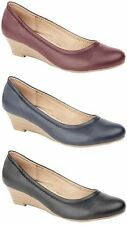 Women's Synthetic Leather Wedge Low (0.5-1.5 in.) Heels