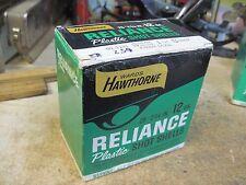 HAWTHORNE 12 GA SHOTGUN shot shell EMPTY box ORIGINAL RELIANCE USA HUNTING shot