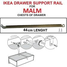 IKEA drawer support rail for MALM series chest of drawer bedside table