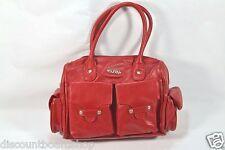 Hurley NATALIE Red Pockets Zip Closure Handbag Women's Purse