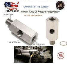 NPT Oil Pressure Sensor Tee 1/8 NPT Adapter Turbo Supply Feed Line Gauge M10-1.5