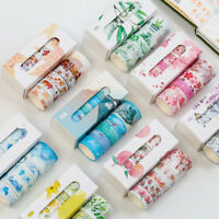 5Pcs/pack Cute Tape Set Petal Flower Sky Sea Paper Masking Tape Washi Tape