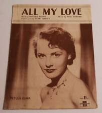 Partition vintage sheet music PETULA CLARK : All my Love * 50's