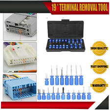 Universal Terminal Connector Release Electrical Terminal Removal Tool 19pcs Kit