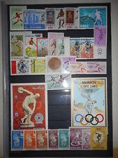 Athletisme Lancer 3 scans 114 timbres + 3 Blocs Neufs & Oblitérés Dentelés & ND