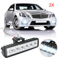 2Pcs 6 LED Car Daytime Running Light  DRL Daylight Wireless Headlight LIGHTS 12V