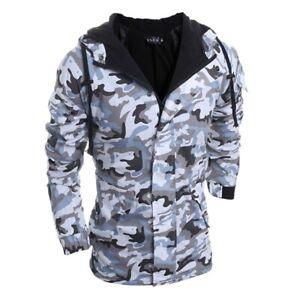 Camouflage Jacke-Herren-- Mantel, Kapuzen Jacke,Mountainskin,Outwear 2XL