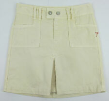 7 For All Mankind Straight skirt Pleated above knee Canvas Beige Womens Size 25