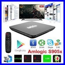 MXQ Smart TV Box Quad Core Internet Android 6.0 4K Media S905X Watch Film