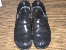 Dansko Womens Professional Black Patent Clog Shoe Size 42 (11.5-12)