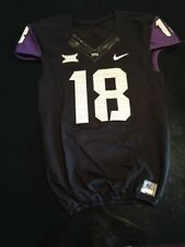 Game Worn Used Nike TCU Horned Frogs Football Jersey #18 Size 40