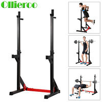 Barbell Rack Dip Stand Gym Family Fitness Adjustable Squat Rack Weight Lifting