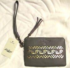 68 Lucky Brand wristlet purse   wallet Smoke Abbey Leather FL 0d99133156