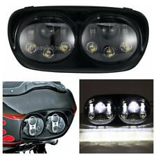 Cree LED Headlights Dual Projector Daymaker Lamp For Harley Road Glide 03-13 12