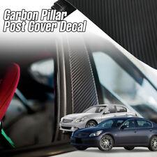 B C Pillar Post Carbon Fiber Decal Sticker 6P For INFINITI 2002-13 G35 G37 Sedan