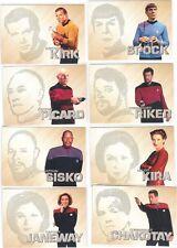 2017 Star Trek 50th Anniversary Phaser Cut Card SET Of 10 Cards Spock Kira T'Pol