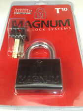 Magnum Master HIGH SECURITY PADLOCK 10mm 3/8 HARDENED STEEL Container Mul T Lock