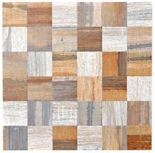 Alumosaik Aufkleber Metall braun Holzoptik Rückwand Küche BAD 200-2422|10Matten