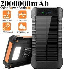 2021 New 2000000mAh Portable Solar Power Bank Waterproof Backup Battery Charger