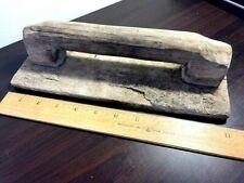 Vintage Wooden Concrete Hand Trowel 11 X 4 J5