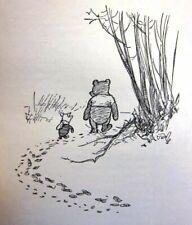 Winnie-the-Pooh and Piglet : A.A. Milne : Circa 1926  Art Print
