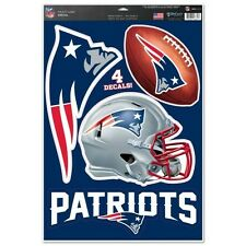 NEW ENGLAND PATRIOTS MULTI-USE DECALS 4 DIFFERENT PER SHEET 11X17 LIKE a Fathead