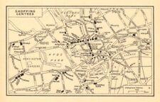 """London 'centri commerciali"""" (grandi magazzini). E'una GEOGRAFI-Z 1948 OLD MAP"""