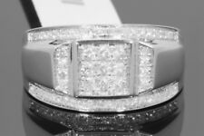 10K SOLID WHITE GOLD .68 CARAT REAL DIAMOND ENGAGEMENT RING WEDDING PINKY BAND