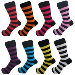 Men Cotton Rich Striped Multicolour Black Ankle Socks One Size 6 - 11
