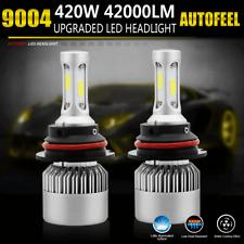 9004 HB1 LED 420W Car Light Headlight 42000LM Hi/Low Beam White 6000K Bulbs Kit