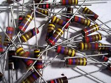 1 Watt Allen Bradley Carbon Comp Resistors Many Values Nos