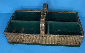 Antique Basket Weave Cutlery Tray - Hand Crafted -