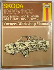 Skoda 1000 and 1100 Owner's Workshop Manual Reparaturbuch 1964-1977 Oldtimer