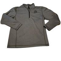 The North Face Mens Light Weight Gray Long Sleeve 1/24 Zip Athletic Shirt Medium