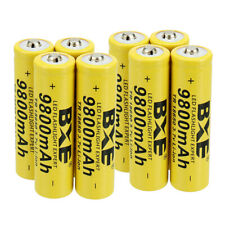 8 Pack 18650 Battery Rechargeable 3.7V Li-ion For Headlamp Flashlight
