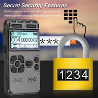 64GB MP3 Player Rechargeable LCD Digital Audio Sound Voice Recorder Dictaphone
